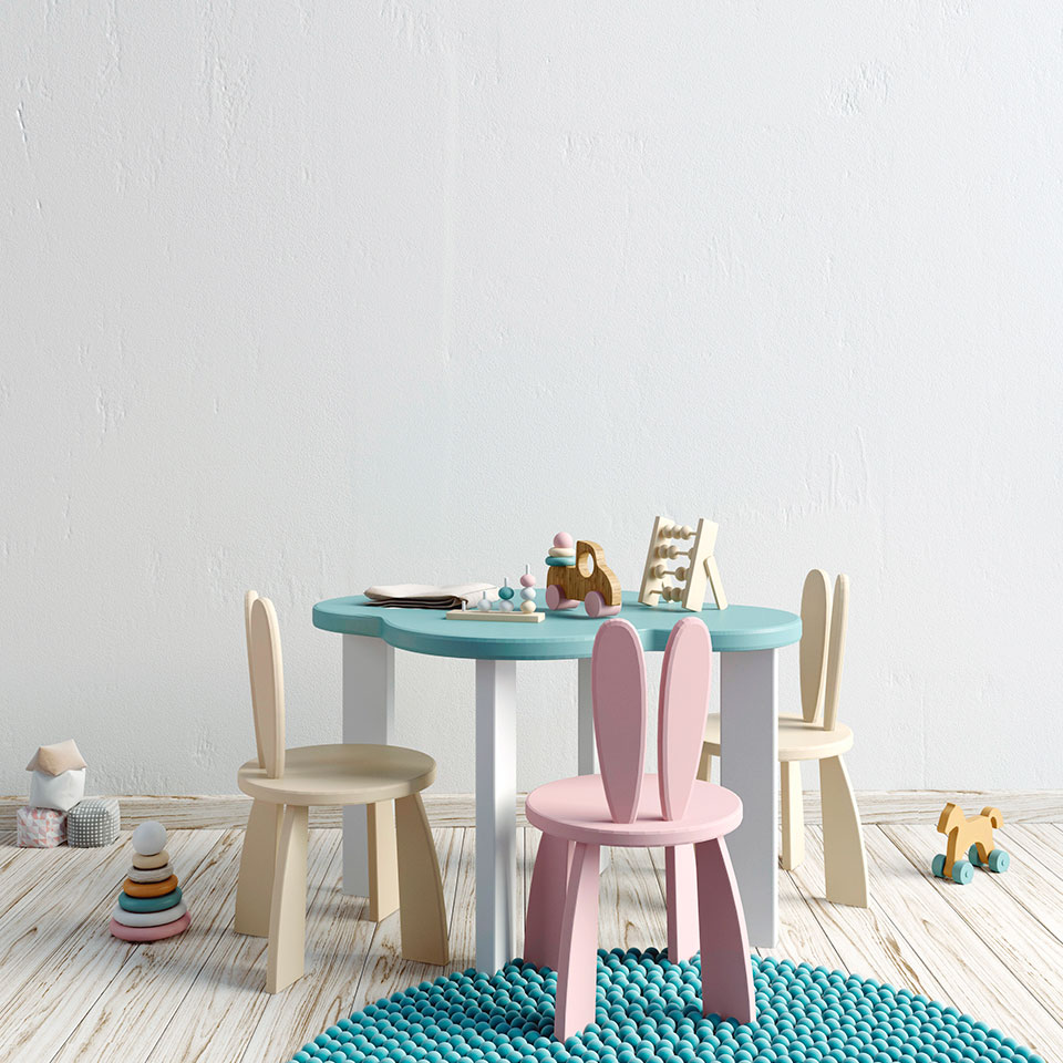 Cute Pastel Chairs
