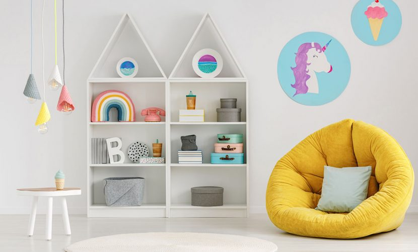Bright Bookshelves in Interiors